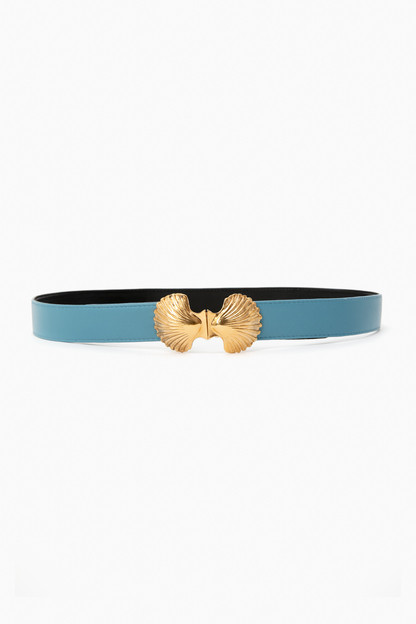 light blue scallop shell belt