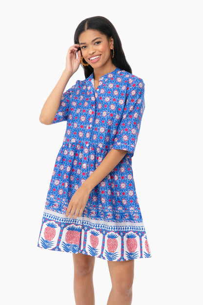 Pineapple Royal Shirt Dress