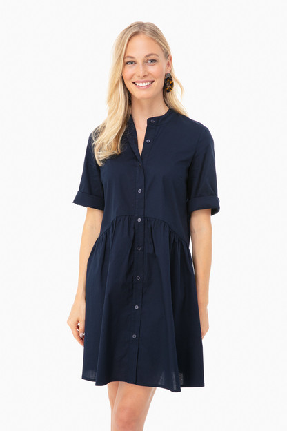 navy royal shirt dress