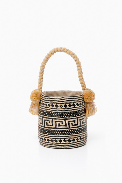 natural/black jules bag