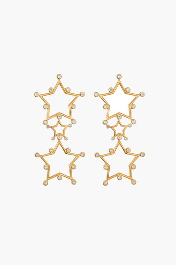 triple star duster earrings