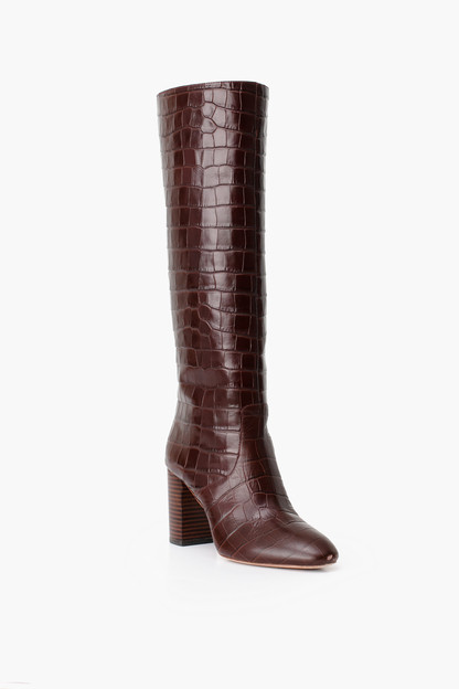 dark brown goldy tall boot