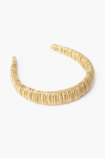 gold marina puffy headband