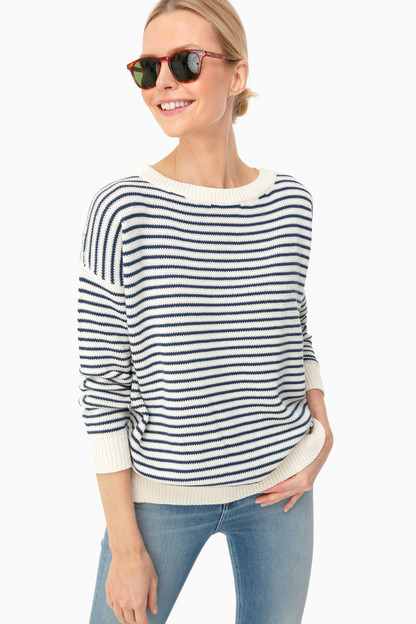 Navy Stripe Organic Carolyn Sweater