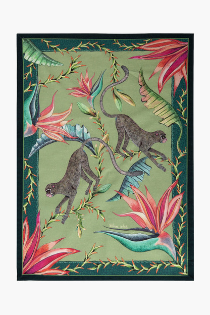 delta monkey paradise tea towel