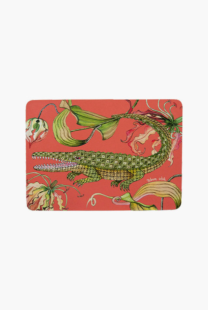 coral flame lily placemats (set of 2)