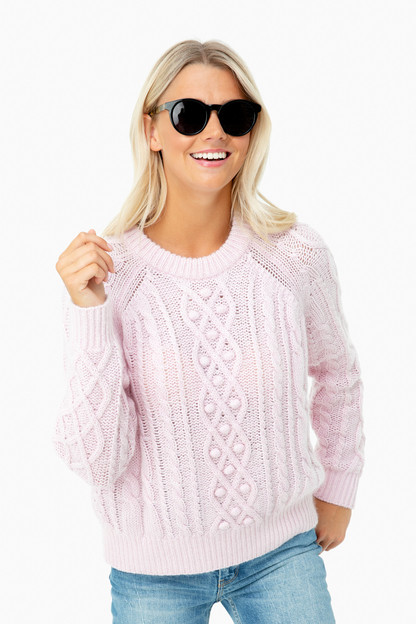 orchid pink mary sweater