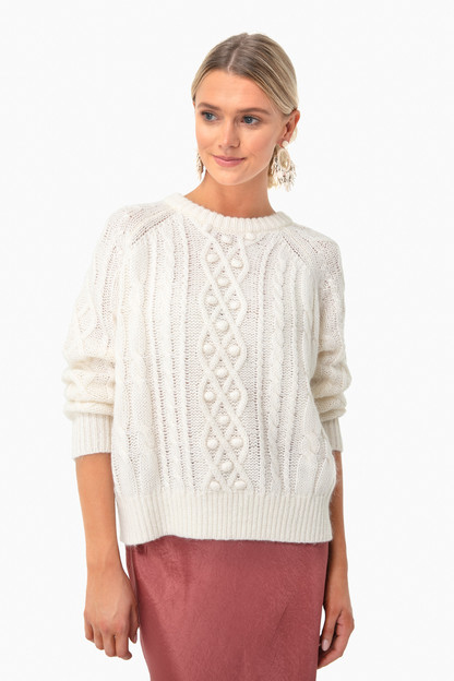 White Mary Sweater