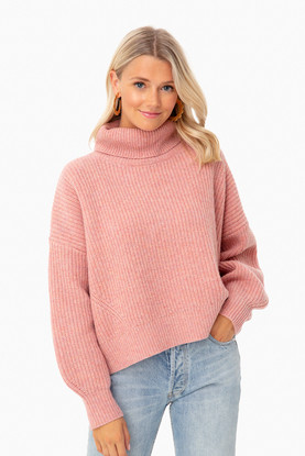 carnation pink tillie sweater
