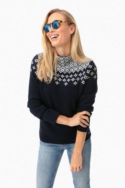 navy luge sweater