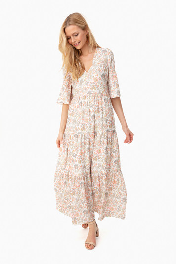 multi floral ginger dress