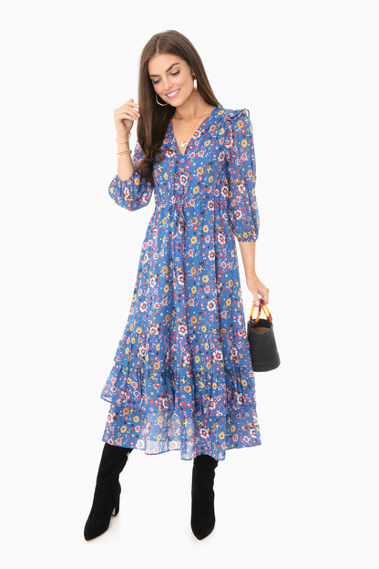 floral confetti leila dress