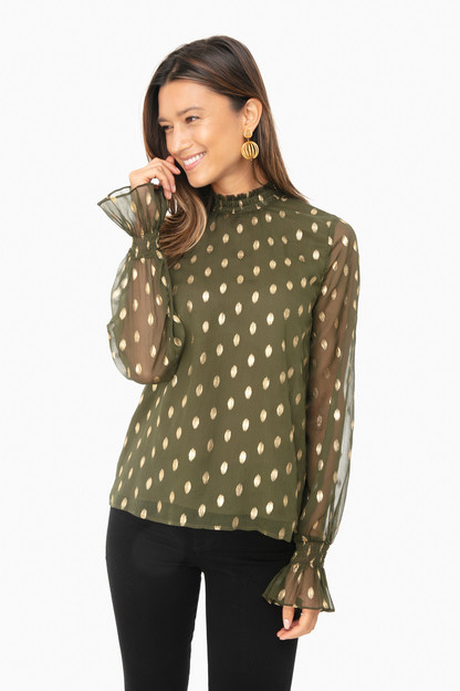 green celeste blouse