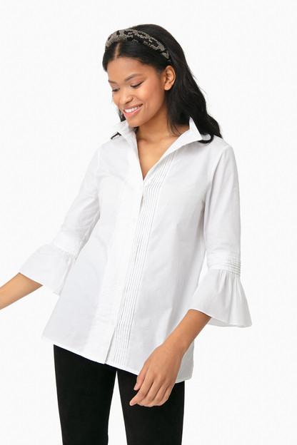 white beatrice blouse