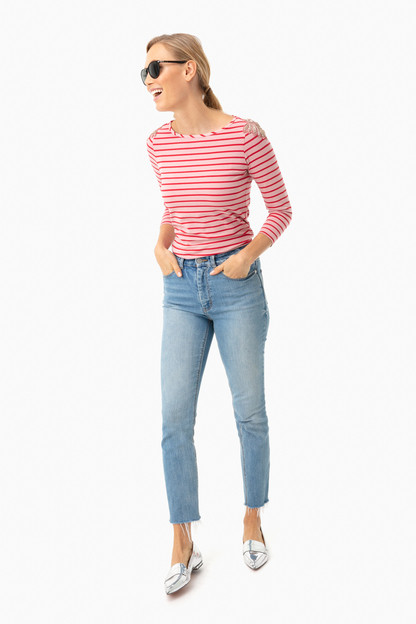 red and pink hindley top