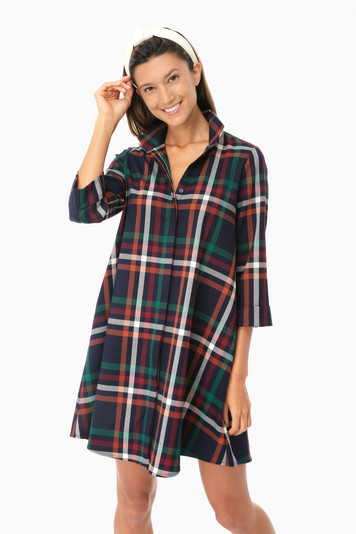 new england plaid charlie dress