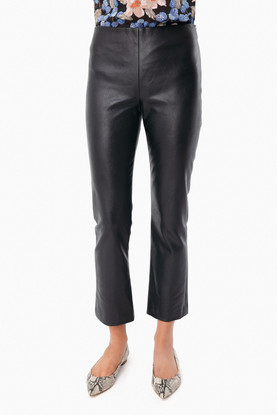 black leather ashford pants