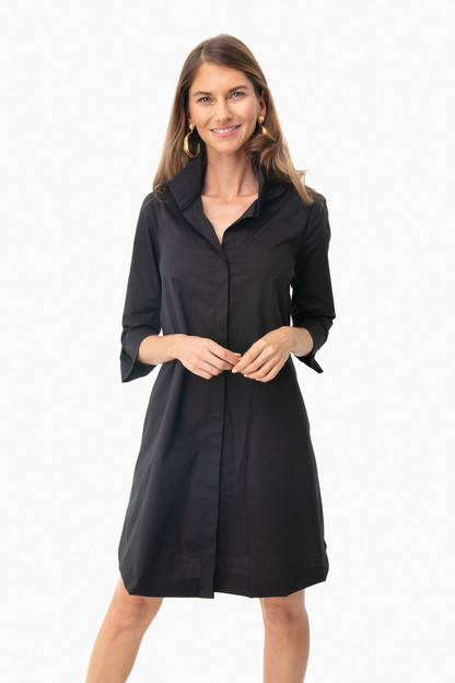 black charlie stand collar dress