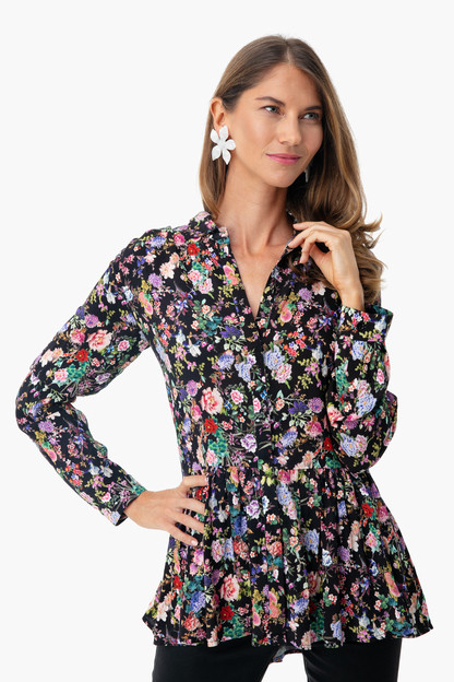 noir wildflower charlotte blouse