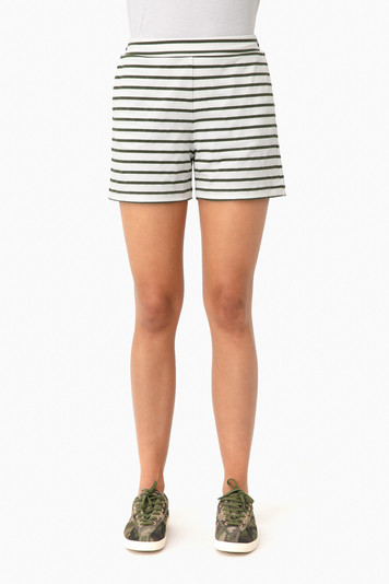 olive striped jojo shorts