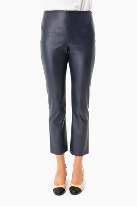 navy leather ashford pants