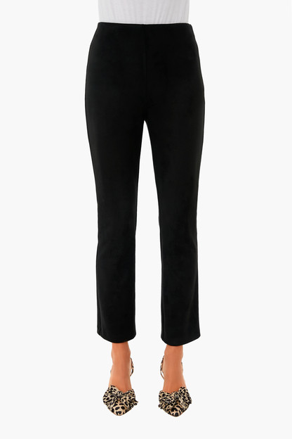 black suede stretch ashford pants