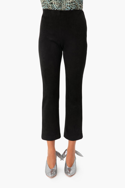 Black Suede Ashford Pants