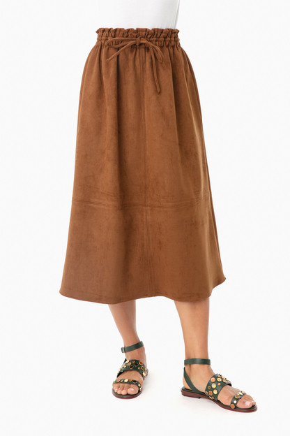 brown cece suede skirt
