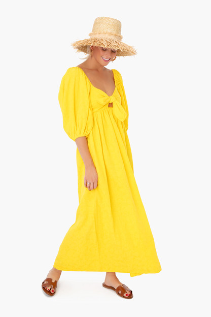 yellow violet dress