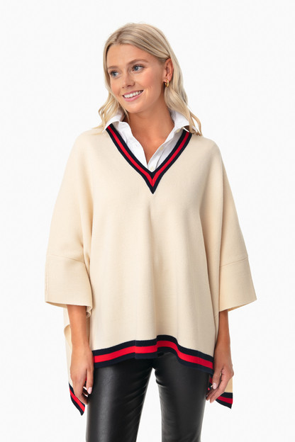 camden soft sweater poncho