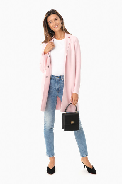 blush cocoon coat
