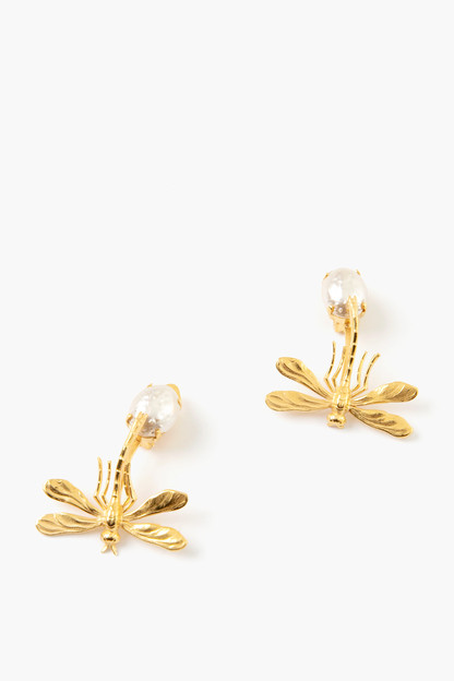 gold demeter earrings
