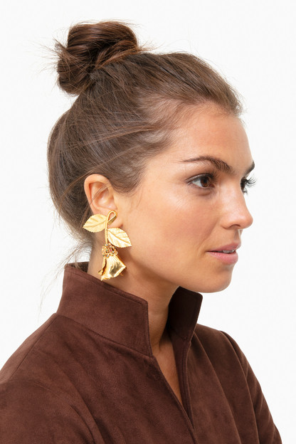 gold persephone earrings