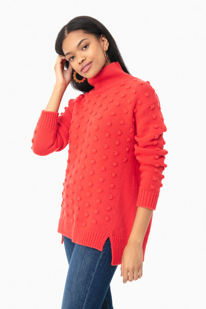 Red Alice Popcorn Sweater