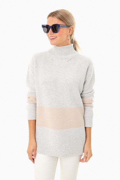 heather broadway stripe sweater