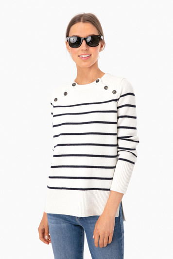 cream parisian striped sweater