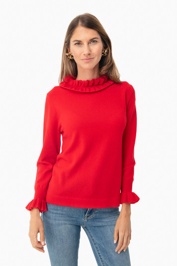 fire engine edie ruffle sweater