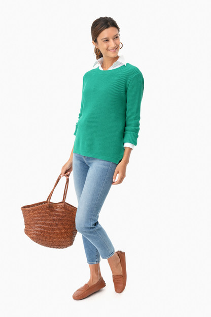 bright jade emma crewneck shaker sweater