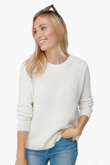 winter white emma crewneck shaker sweater