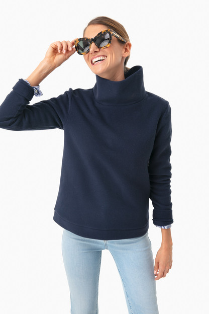 Navy Park Slope Turtleneck If ordered with a monogram, this item will not arrive for Christmas.