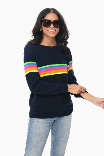 neon rainbow mexican stripe boyfriend sweater
