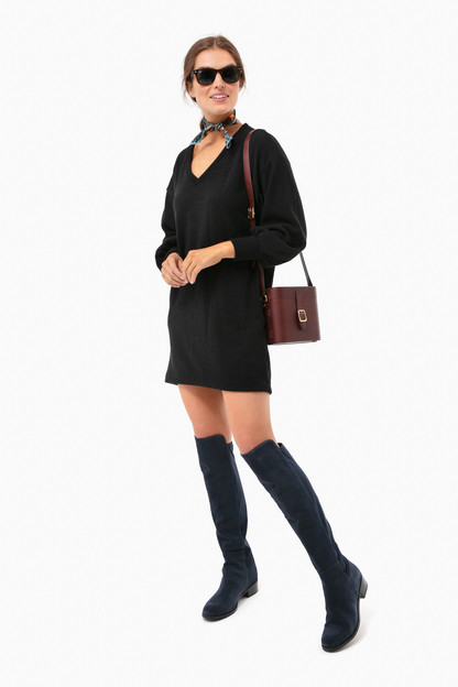 navy suede waterproof velma boots