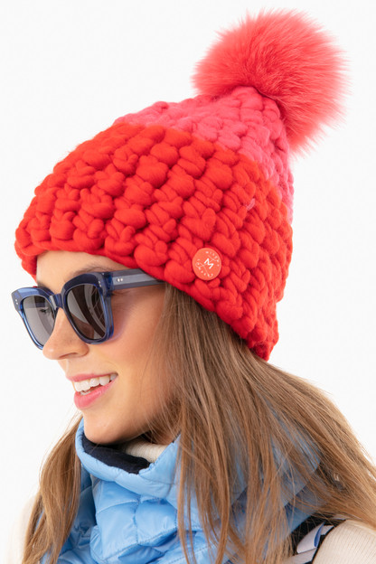 candy colorblock deep beanie