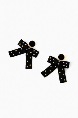 black kate earrings