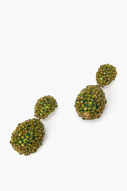 green sandra earrings