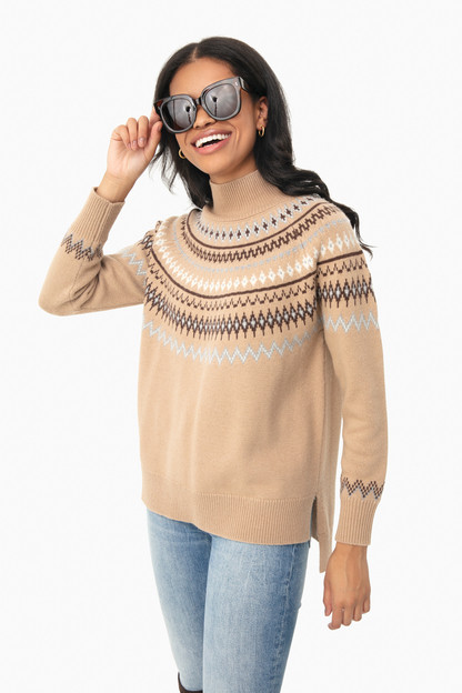 Camel Fair Isle Sweater