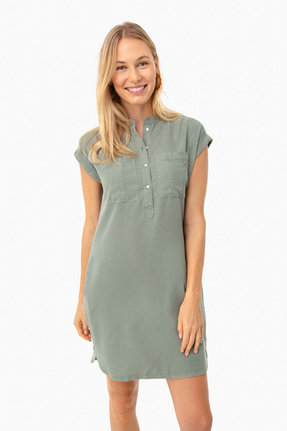sage dolman margo shirt dress