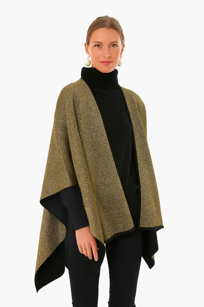 black & gold poncho
