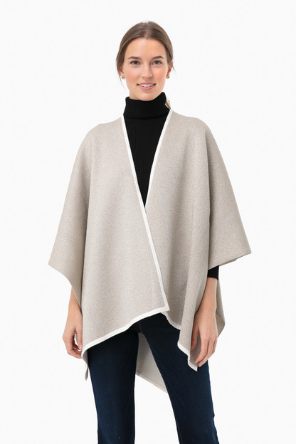 winter white & gold poncho