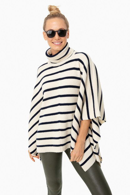 cream hudson sweater poncho